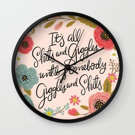Pretty Sweary: It's all shits and giggles until... Wall Clock