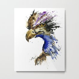 Golden Eagle - Colorful Watercolor Painting Metal Print