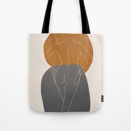 Line Female Figure 82 Tote Bag