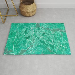 Rome City Map of Italy - Watercolor Rug