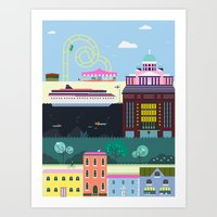 finland Art Prints featuring Helsinki, Finland by Thomas W