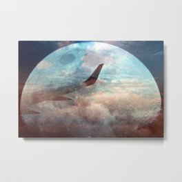 The bright side of the Moon Metal Print