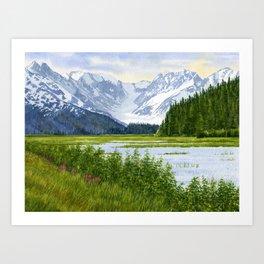 Chugach Glacier View Art Print