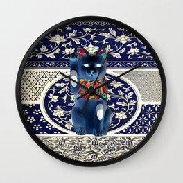 Maneki Neko (Lucky Cat) II Wall Clock