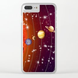 Planeten Clear iPhone Case