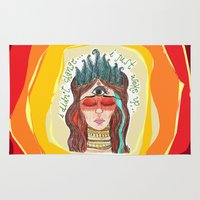 third eye Area & Throw Rugs featuring third eye by ivette mancilla