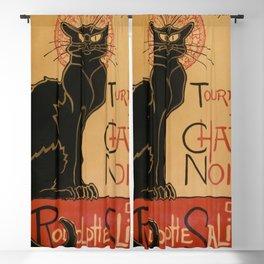 Le Chat Noir The Black Cat Poster by Théophile Steinlen Blackout Curtain