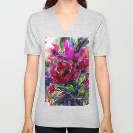 Jubilation by Kathy Morton Stanion Unisex V-Neck