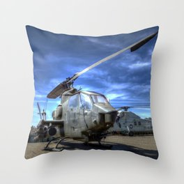 Bell AH-1 Cobra Helicopter Throw Pillow