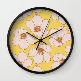 Blossom Me, Blossom You (Yellow) Wall Clock