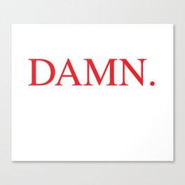 DAMN. Kendrick Lamar Canvas Print