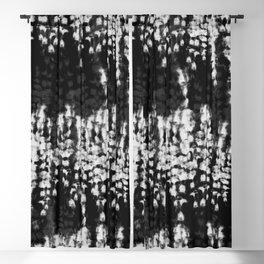 black shibori tie dye Blackout Curtain