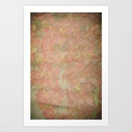 Vintage silk cotton leaves texture decoupage Art Print