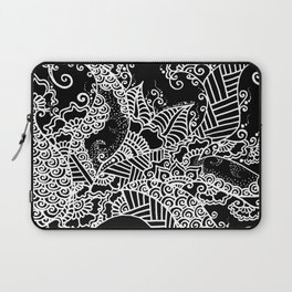 Zen Tree Rebirth Black Right Half Laptop Sleeve
