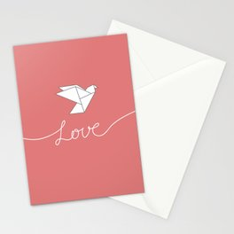 White Dove Origami Stationery Cards