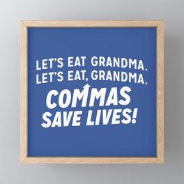 COMMAS SAVE LIVES Framed Mini Art Print