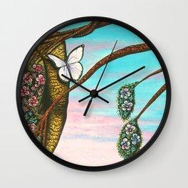 Le papillon de l'amour irrésistible Wall Clock