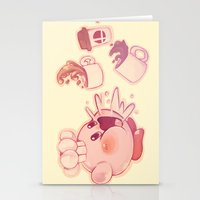 kirby Stationery Cards featuring Kirby Coffee by SweetOwls