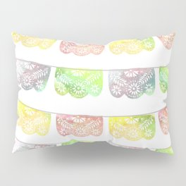 Vibrant Watercolor Papel Picado Pillow Sham
