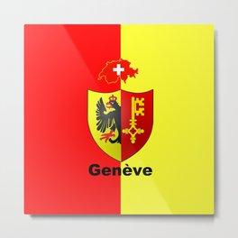Geneve City of Zwitzerland Metal Print