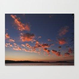 Puffy, pink Puget Sound sunset Canvas Print