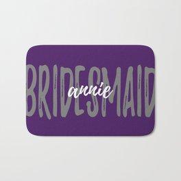 Bridesmaid Plum Grey Bath Mat