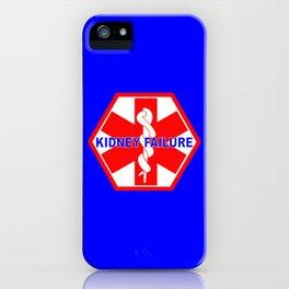 MEDICAL ALERT kidney failure Identification tag iPhone Case