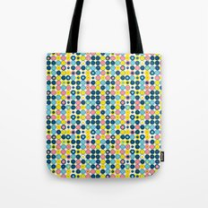 Funny Polkas-Blue and pink Tote Bag