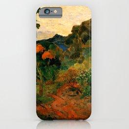 """Paul Gauguin """"Martinique Landscape (Tropical Vegetation)"""" iPhone Case"""
