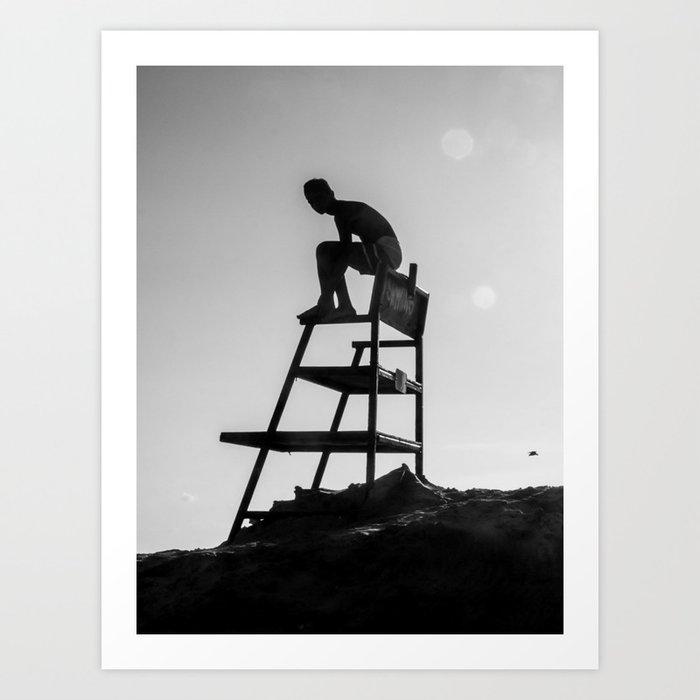 Beach Life - Lifeguard Art Print