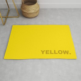 Yellow color less is more, happy summer design Rug