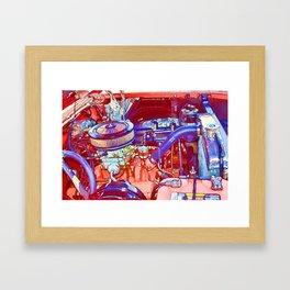 Vehicle engine close up Framed Art Print