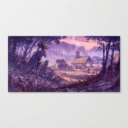 Village in the Clearing - Kylä aukealla Canvas Print