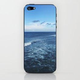 blue on blue iPhone Skin