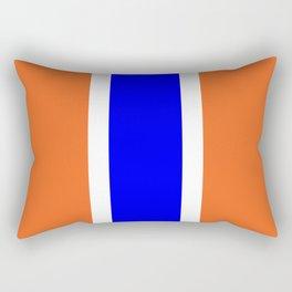 TEAM COLORS 10....ORANGE AND BLUE Rectangular Pillow