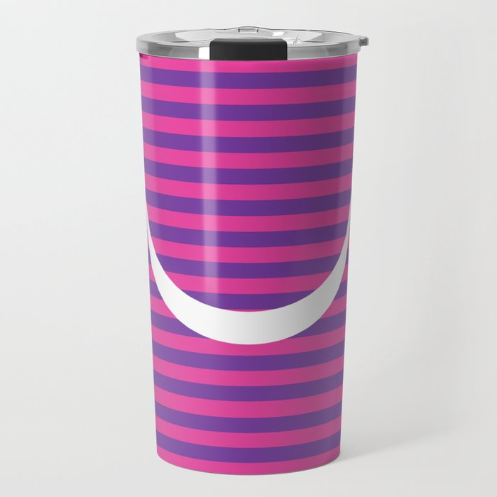 cff95d2240e Minimalist Cheshire Cat from Alice in Wonderland Travel Mug by sofiafrost |  Society6