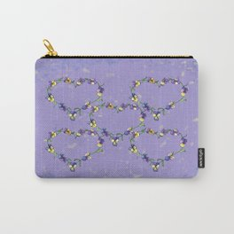 Pansy Heart Carry-All Pouch