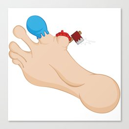 Paul Bunion & Babe The Big Blue Toe Canvas Print