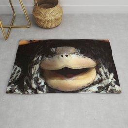 Watercolor Turtle, Diamondback Terrapin 01, Assateague, Virginia, Look Who! Rug
