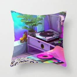 Vaporwave Aesthetic Throw Pillow