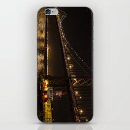 Bay Bridge Fire Boat at Night iPhone Skin