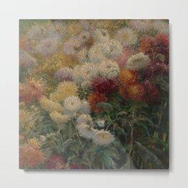 Chrysanthemums in the Garden at Petit-Gennevilliers - Claude Monet Metal Print