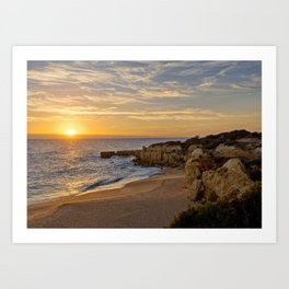 Algarve sunset, Portugal Art Print