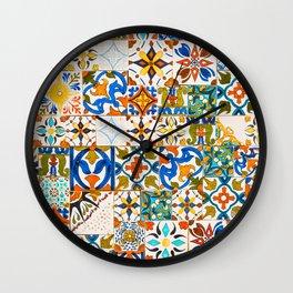 Moroccan Mosaic II Wall Clock