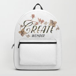Create wonder message Backpack