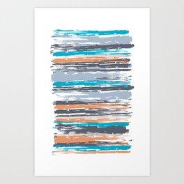 Painted Strokes 2 Art Print