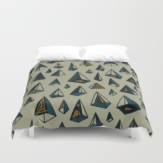 Triangles Are My Favorite Shape Duvet Cover