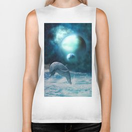 Freedom of dolphins Biker Tank