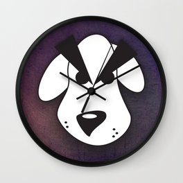 Peeved Pup Wall Clock