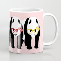 pandas Mugs featuring Pandas by mailboxdisco